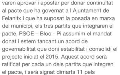 COMUNICAT PSOE-BLOC-PI
